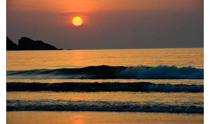 绝美朱家尖,日出,沙滩,盘山路融为一体