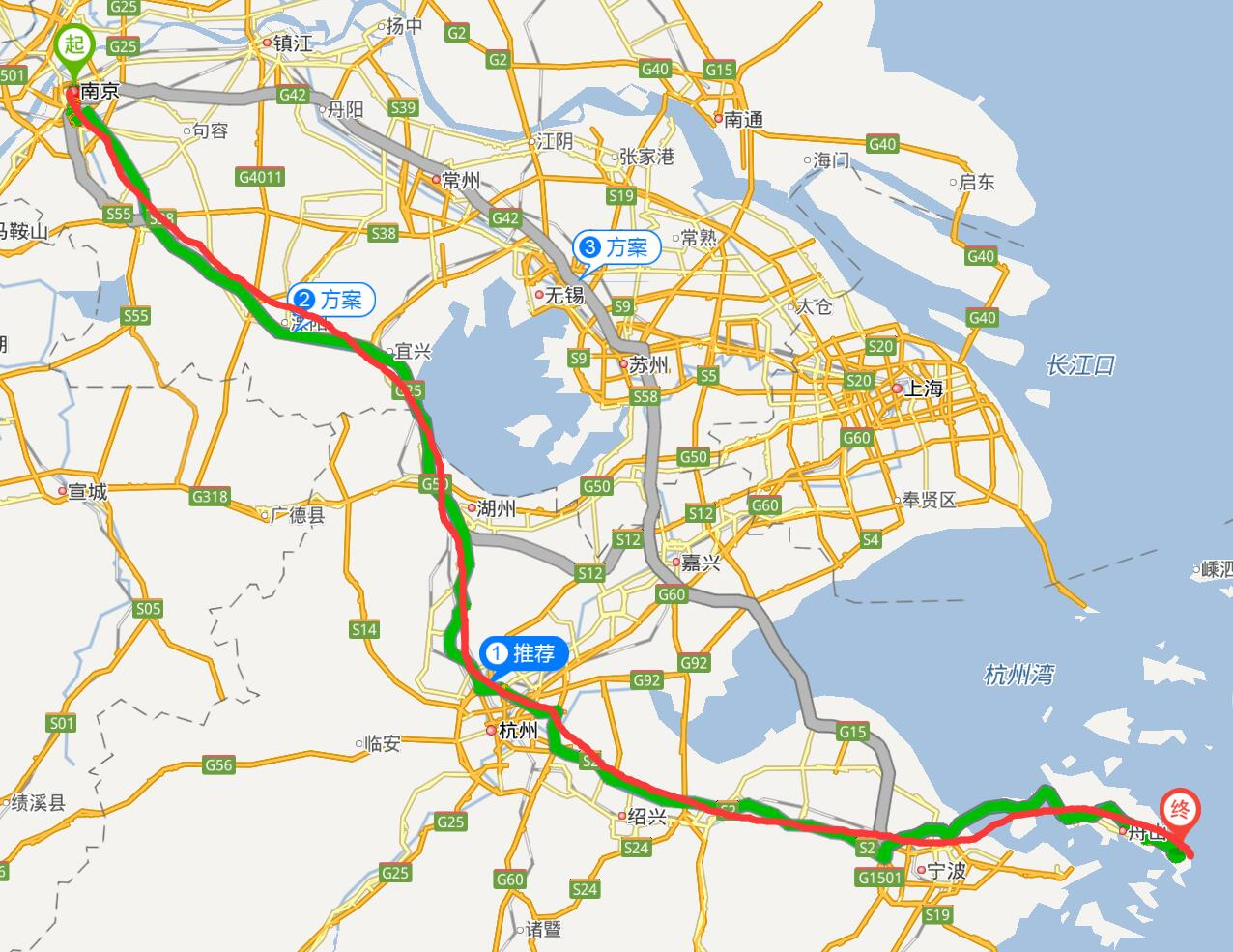 从南京到舟山朱家尖自驾怎么走,那条高速最快?经过杭州吗