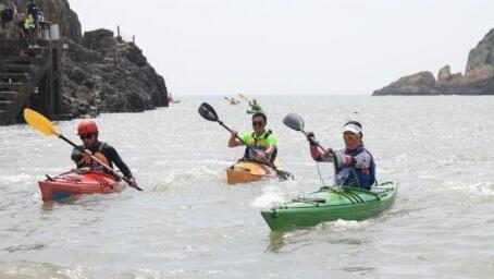 环白沙岛皮划艇挑战赛舟山旅游举行