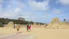 舟山海岛旅游首选朱家尖南沙,沙雕惊艳内陆游客